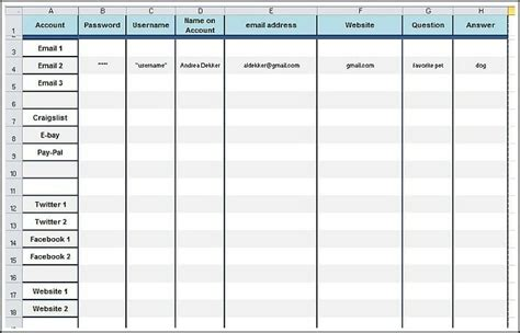printable password worksheet andrea dekker