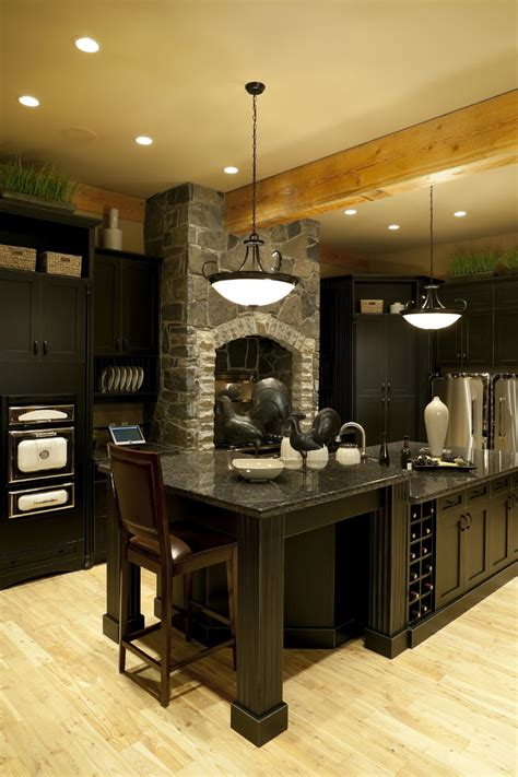 black kitchen cabinets with floors 52 kitchens with wood or black kitchen cabinets 9296
