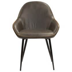 vintage tub dining chair grey