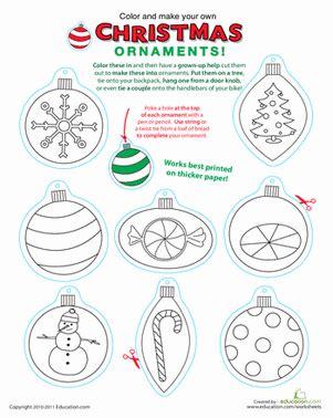 decorate your own christmas tree worksheet printable ornaments worksheet education