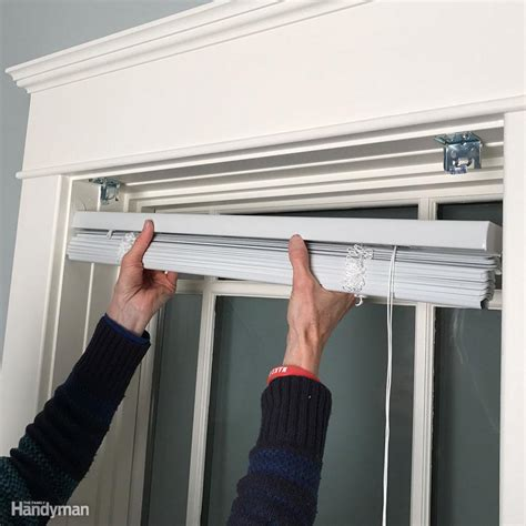 how to remove blinds from window how to install window blinds the family handyman