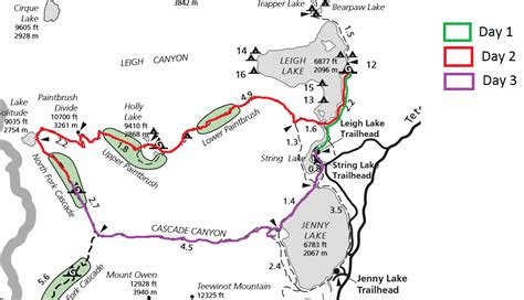 Grand Canyon Campsite Map - Grand canyon campground map