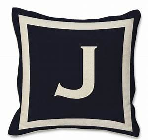 navy throw pillow with letter j decor pinterest With decorative pillows with letters