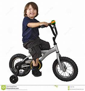 Cute boy riding bicycle stock photo. Image of recreation ...
