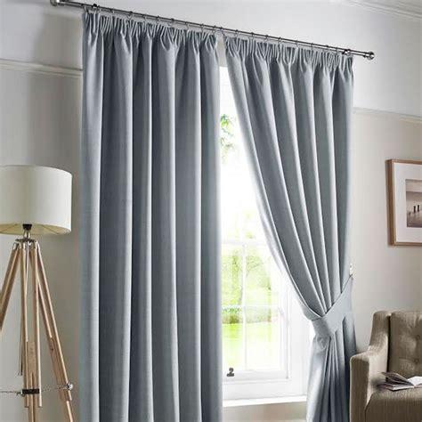 modern plain darwin blackout pencil pleat curtains pair