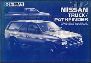 1987 Nissan Pathfinder Owners Manual Oem Original Owner