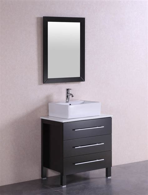 larry   modern espresso bathroom vanity  stone