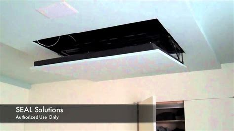 motorized ceiling tv mount uk seal solutions motorized flip auton tv lift doovi