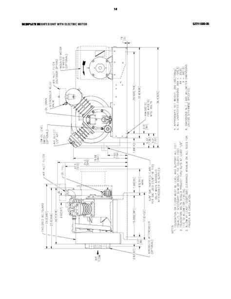 Ingersoll Rand 2475 Air Compressor Parts List - English