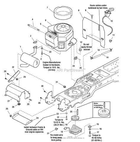 16 Hp Brigg Part Diagram by Simplicity 1694099 Baron 16hp Hydro And 40 Quot Mower Deck