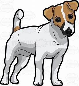 An Adorable Jack Russell Terrier Pup Cartoon Clipart ...