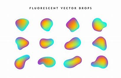 Vivid Abstract Colorful Gradient Shapes Vector Fluid