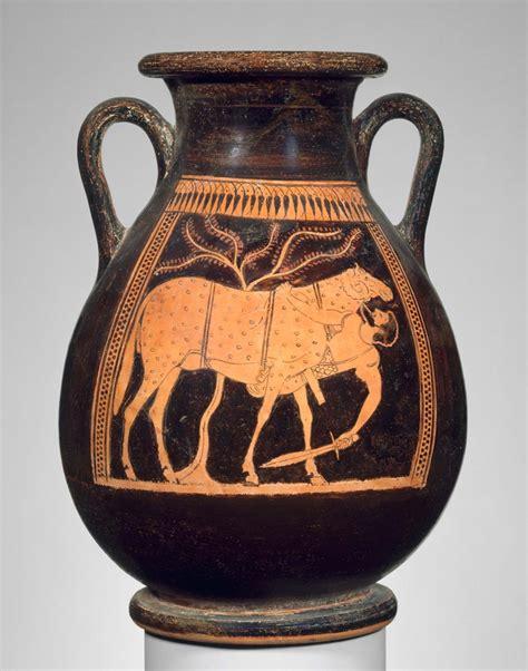 handled jar pelike depicting  escape  odysseus