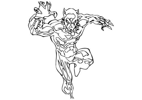 Kleurplaat Black Panther by Free Printable Black Panther Coloring Pages