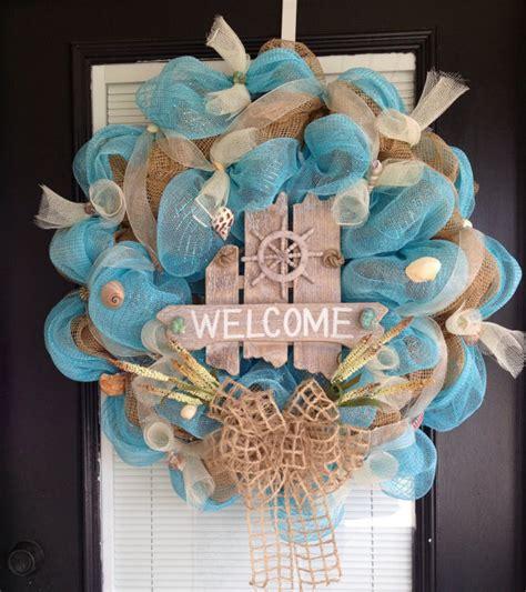 brilliant beach themed wreath ideas