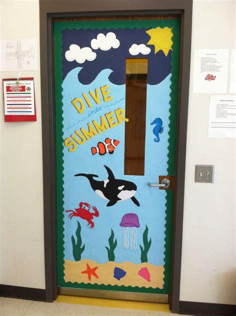 door themes ocean beach themed classroom door pre k classroom door ideas pinterest summer ocean
