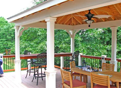 covered living area traditional patio other metro