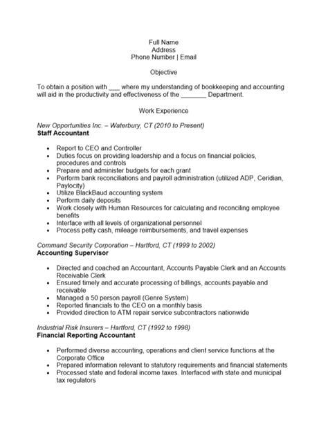 sle resume accountant 28 images 28 sle accounting sle cpa resume 28 images 28 staff accountant resume