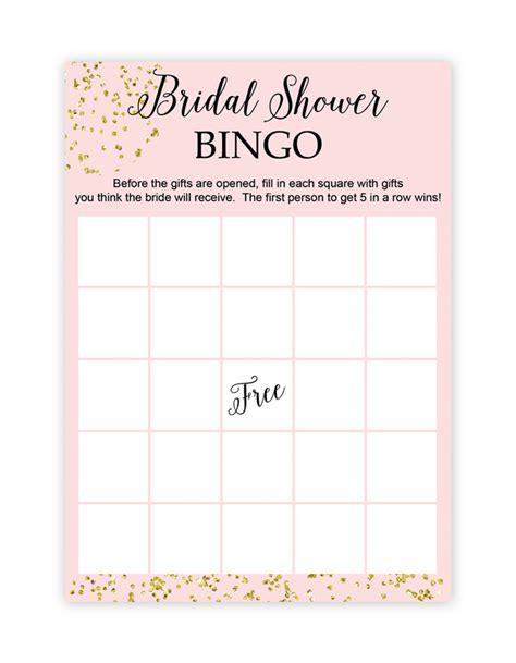 bridal shower bingo template free printable bridal shower bingo