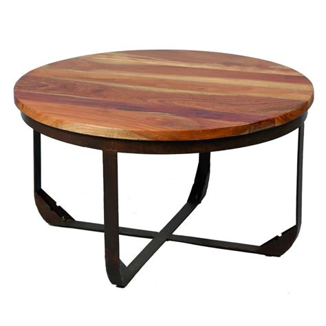 table basse en bois et m 233 tal tons univers salon tousmesmeubles