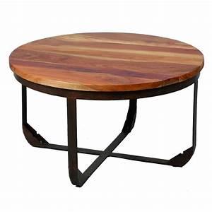 Table Basse Bois Metal : table basse en bois et m tal tons univers salon tousmesmeubles ~ Teatrodelosmanantiales.com Idées de Décoration