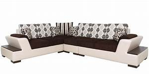 Buy capital sectional corner sofa in multi colour by star for Buy sectional sofa india