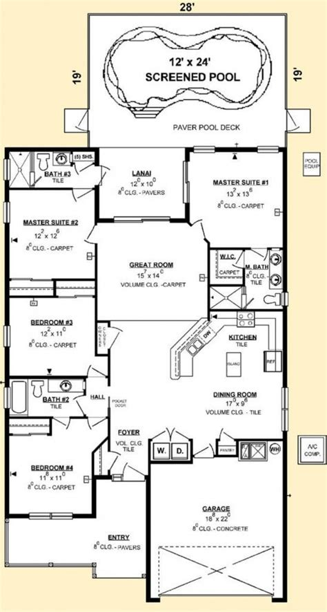 luxury house plans with two master suites for the home