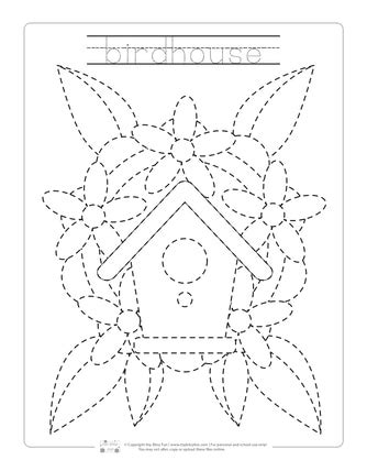 spring tracing worksheets itsy bitsy fun