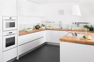 cuisine laquee blanche cuisine laque blanche sans poigne With plan de travail cuisine blanc laque