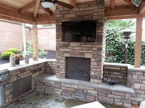 outdoor fireplace outdoor living outdoor kitchen