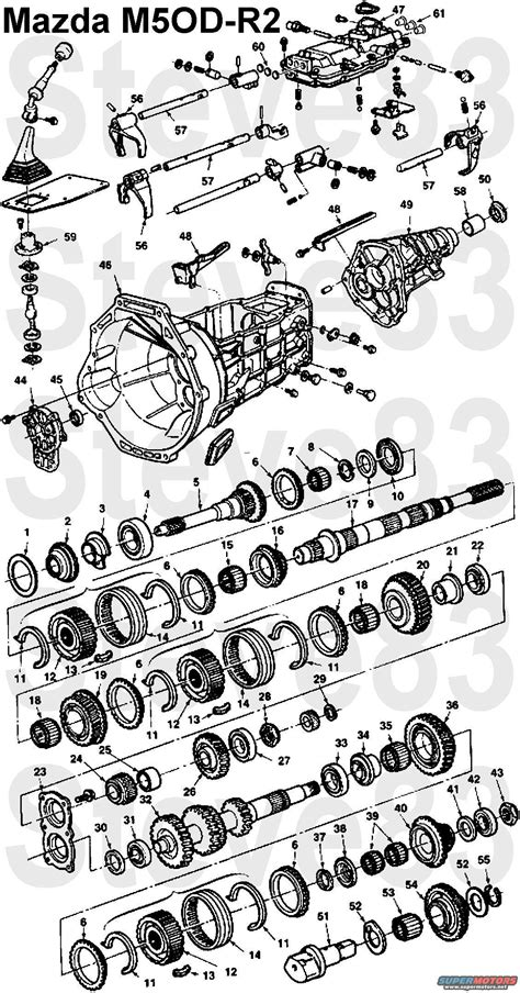 A4ld Transmission Overhaul Diagram by Ford M50d Transmission Exploded View