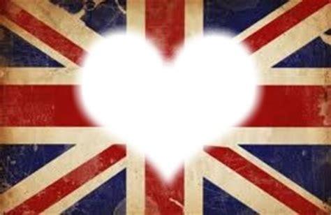 montage photo coeur avec le drapeau anglais pixiz