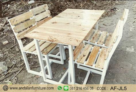 set kursi cafe kayu jati belanda jual desain minimalis