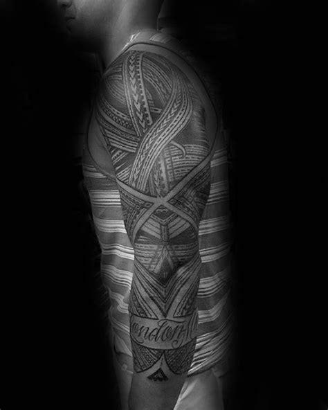 40 Polynesian Sleeve Tattoo Designs For Men - Tribal Ink Ideas
