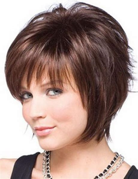 short haircuts for round faces 2014