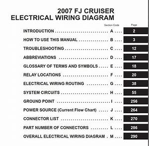 Toyota Fj Cruiser 2007 Electrical Wiring Diagram  Em0240u