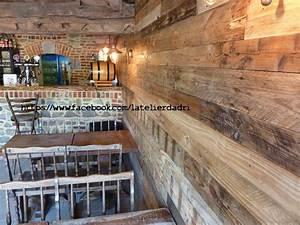 Palette De Bois : bar d coration murale avec les palettes en bois pallet ~ Premium-room.com Idées de Décoration