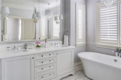 White And Lavender Wallpaper-transitional-bathroom