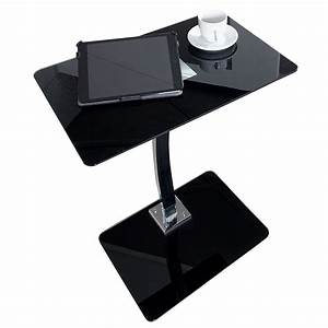 Tablett Tisch Schwarz : glas beistelltisch james 58 cm schwarz wohnzimmertisch tablett tisch ebay ~ Whattoseeinmadrid.com Haus und Dekorationen