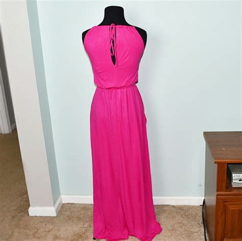 colored maxi dresses gap gap fuschia colored flowy maxi dress from buy 3 get