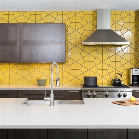yellow kitchen tiles 20 bold kitchens backsplashes that make a statement 1222