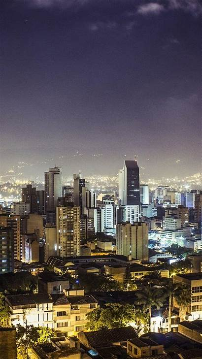 Medellin Colombia Wallpapers Republic Buildings Night Iphone
