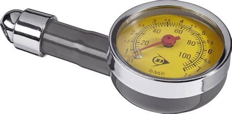Dunlop Tire Pressure Meter Analog Black Silver