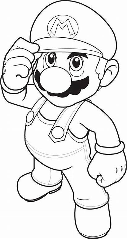 Coloring Pages Characters Popular Mario Paper Printable