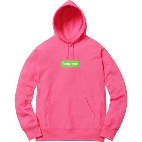 authentic supreme clothing supreme box logo hoodie magenta pink size small 100