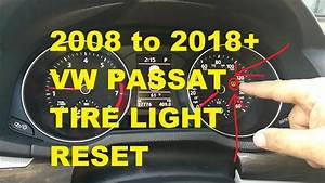 Why Is Tpms Light On Volkswagen Passat Tire Pressure Light Reset For 2012 To