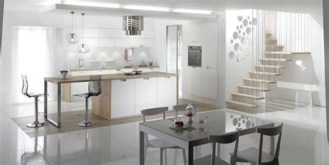 cuisine blanche et bois clair la cuisine blanche prend des couleurs inspiration cuisine