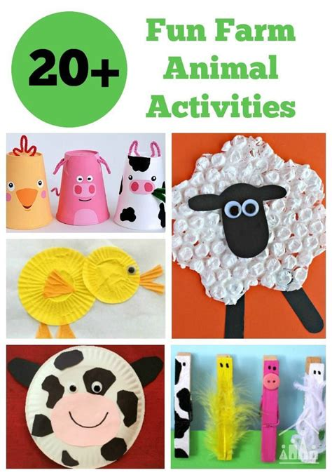 40 fantastic farm animal activities for the boys 317 | 9e487ecdd5c0690afff4a844f58da913 art crafts for kids arts crafts