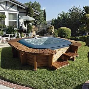 Jacuzzi En Bois : spa hinchable de madera palm beach jardinitis ~ Nature-et-papiers.com Idées de Décoration
