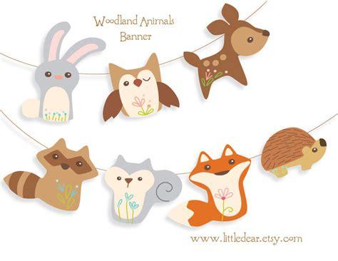 Printable Woodland Animals Banner Set 1digital download